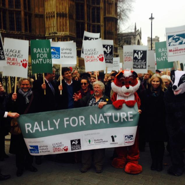 blue fox conservatives against fox hunting founder  at raly for nature event rspb lacs