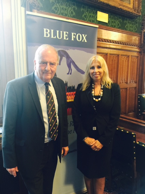 Blue Fox Patron with Co Founder Sir Roger Gale