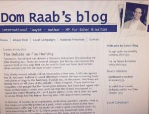 dom raab blog blue fox  conservatives